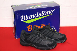 NEW: BLUNDSTONE LADIES BLACK SUEDE WORK SAFETY BOOTS - STEEL CAP JOGGERS