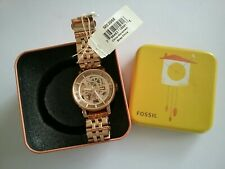 Fossil Rose Gold Automatic Skeleton Boyfriend Watch NWT ME 3065