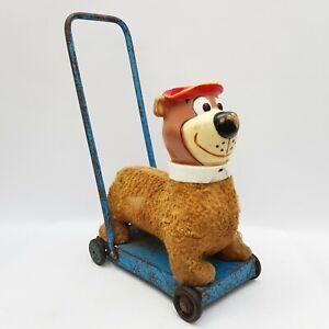 Yogi Bear Childs Push Along Toy Walker TV & Film Character Bear Vintage RARE