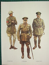 VINTAGE WW1 WWI PRINT GREAT BRITAIN BRIGADIER GENERAL FIELD MARSHAL DOUGLAS HAIG