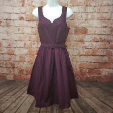 ModCloth Size S Purple Belted A- Line Dress New Without Tags