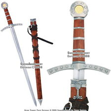 Medieval Knights of Templar Dagger Crusader Short Arming Sword with Scabbard