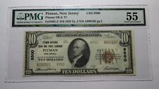 $10 1929 Pitman New Jersey NJ National Currency Bank Note Bill! Ch. #8500 AU55!