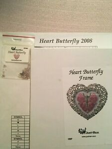 Just Nan Heart Butterfly 2008 with Embellishments & Frame