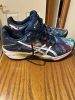 ASICS GEL SOLUTION, Speed 3, Tennis Shoes, Model #E650Q Tie Dyed Blue/rose/green