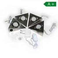 LED Unterbauleuchte 4er Set Küchenleuchte Küche Schrankleuchte warmweiß Strahler