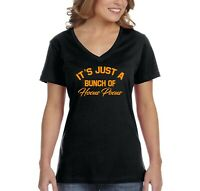Halloween T-shirt BUNCH OF HOCUS POCUS pumpkin scary Women vneck shirt