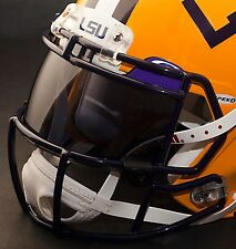 *CUSTOM* LSU TIGERS NCAA OAKLEY Football Helmet EYE SHIELD / VISOR
