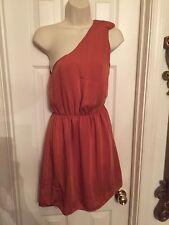 H&M Rust Orange Empire Sleeveless Tulip Party Dress Womens Clothing Sz 8 M NWT