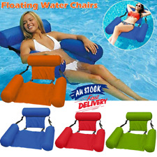 Inflatable Floating Water Hammock Float Pool Lounges Bed Swimming Chair Summer
