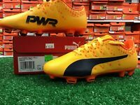 Puma EvoPOWER Vigor 4 FG Jr Soccer Cleats Orange Yellow Size 5.5 New In Box