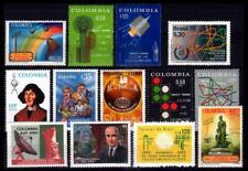 Colombia and Brazil, Space and Communications lot. All stamps MNH