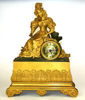 MANTELPIECE CLOCK. ORMOLU. WITH CHIMING. STYLE NAPOLEON III. FRANCIA.XIX