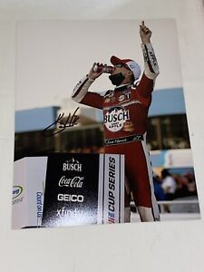 Kevin Harvick BUSCH APPLE MICHIGAN SWEEP VICTORY CELEBRATION signed 8x10 photo
