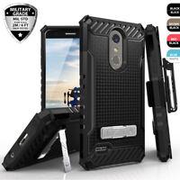 For LG Premier Pro LTE Shockproof Hybrid Belt Clip Holster Kickstand Phone Case