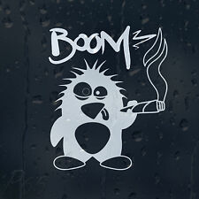 Funny Boom Smoking Weed Penguin Cannabis Car Or Laptop Decal Vinyl Sticker