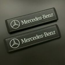 Mercedes Benz seat belt covers Grey embroidery 2PCS