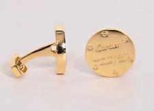 CARTIER CUFFLINKS YELLOW GOLD TONE WITH SPECIAL GIFT CUFFLINK BOX MINT