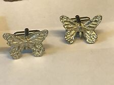 From English Modern Pewter Butterfly Tg164 Cufflinks Made