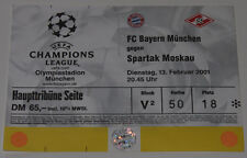 TICKET CL Bayern Munchen Germany - Spartak Moscow Russia