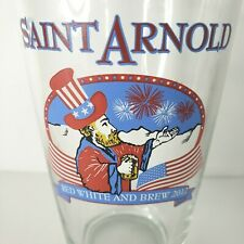 Saint St Arnold Brewery Red White and Brew 2012 16 oz Texas Man Cave Patriotic