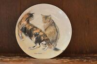 ROYAL DOULTON - Kikko & Rosie - The Royal Mail Cats Plate #1651