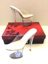 Pleaser Flamingo-808 Clear Size 10 Exotic Dancer Stripper Platform Heels 8 Inch
