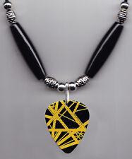 Eddie Van Halen Signature Black/Gold Frankenstrat Guitar Pick Necklace - 2015
