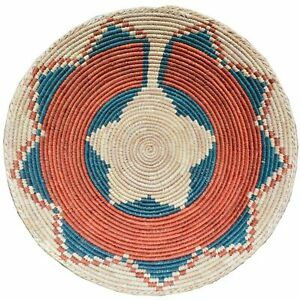 """Classic World Rugs 14"""" Inches Hand-Woven Southwestern Design Basket Brbal-456"""