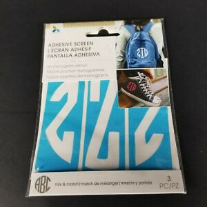 Momenta Reuseable Adhesive Screen 3 Inch Monogram Stencil Letter Z New Craft