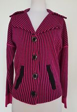 ALANNAH HILL Magenta Pink 'Eat All For You' Knit Cardigan/Jacket Size 10