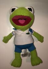 "Disney Store Muppet Babies Junior KERMIT THE FROG 12"" Plush Stuffed Animal Toy"