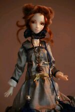 BJD fimo porcelain ball jointed ooak art doll red hair made by Stick's dolls