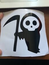Grim Reaper Cute Car Sticker. Decal. Gothic. Bumper Sticker.