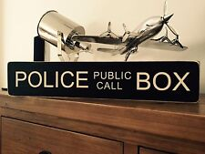 Dr Who Sign Police Public Call Box Vintage Gift Kids Room Tardis Dalek POLICE
