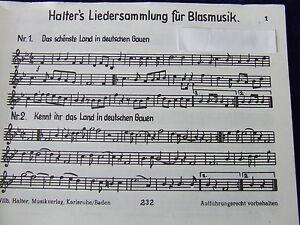 Halter`s Liedersammung für Blasmusik Heft 1 Tenorhorn oder Bariton in B