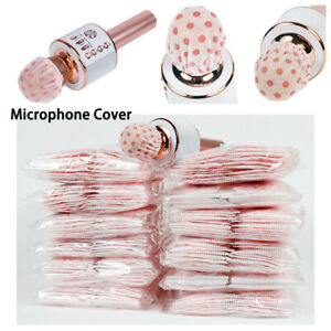 100/500Pcs Microphone Hygiene Cover Odor Removal Disposable Non-woven Mic Cover~