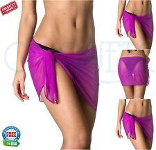Coqueta women'ss Beach Dress Bikini COVER-UP Mesh swimwear SARONG NEW Wrap Pareo