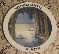 1933 Rosenthal Christmas Plate Weihnachten Through the Night to Light Schiffman
