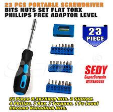 23PCS Screwdriver Bits Nuts Set Flat Torx Phillips Free Adaptor LEVEL 20214
