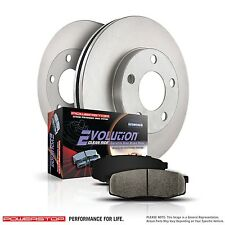 Rear set (2 ) Discs Brake Pad and Rotor Kit Rear Power Stop KOE3106