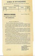 P700-BENEVENTO-ARPAIA 1888 RICHIESTA AIUTI