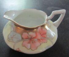 Vintage Bavarian Art Nouveau Cream & Sugar Set - Gold Gilt Trim, Yellow, Mint, C