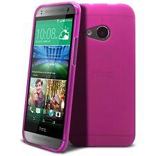 Coque Housse Pour HTC One Mini 2 Semi Rigide Extra Fine Mat/Brillant Rose