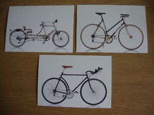 Cycles -3 x New, Unused Postcards of Iconic Bicycles- Sironval, Colnago, Diamant
