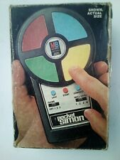Vintage 1980 Milton Bradley Pocket Simon With Box Game