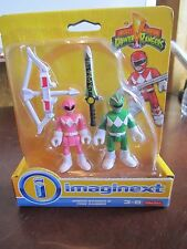 Fisher Price Imaginext Mighty Morphin Power Rangers Green Pink Sword Bow & arrow