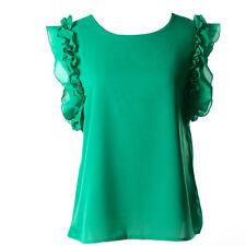 Women Vest Summer Loose Chiffon Sleeveless Casual Tank T-Shirt Top Blouse