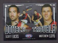 2009  AFL Pinnacle Double Trouble DT8 Essendon