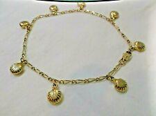 """Shells - 10K Gp Anklet Bracelet 10"""" Sea"""